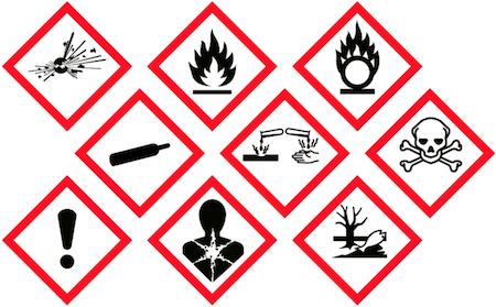 New Danger Symbols Are Mandatory On Hazardous Chemical Products